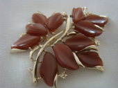 Vintage American Brooch - Lucite Leaves Pin signed 'Coro' (Sold)